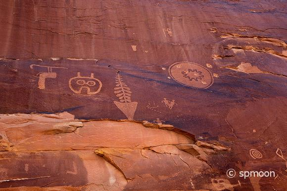 Ancient Native American Petroglyph in Butler Wash, Comb Ridge, Utah